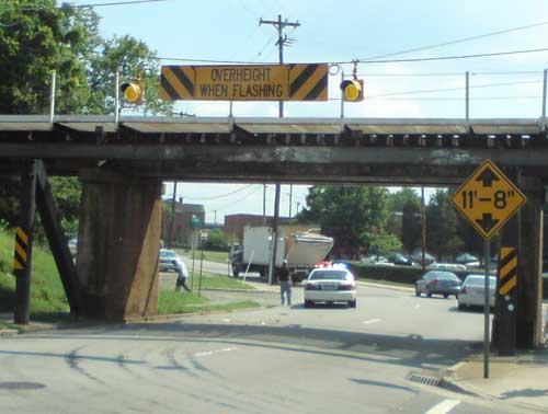 Yes, that\'s a LOW BRIDGE
